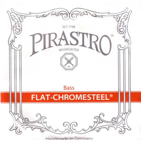 Flat-Chromesteel SOLO Комплект струн для контрабаса размером 3/4, Pirastro