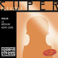 Super Flexible Комплект струн для скрипки размером 4/4, среднее натяжение, Thomastik