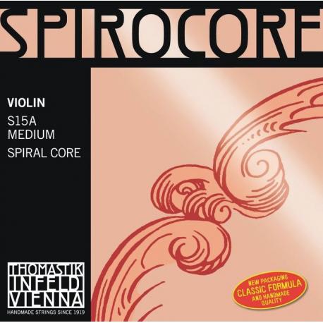 Spirocore Комплект струн для скрипки размером 4/4, среднее натяжение, Thomastik