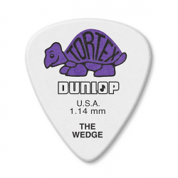 424P1.14 Tortex Wedge Медиатор 1.14 мм., Dunlop