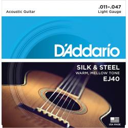 D'Addario EJ40 SILK&STEEL Струны для акустической гитары