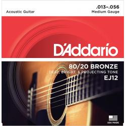 D'Addario EJ12 BRONZE 80/20 Струны для акустической гитары