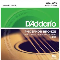 D'Addario EJ18 Phosphor Bronze Комплект струн для акустической гитары