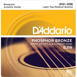 D'Addario EJ19 Phosphor Bronze Комплект струн для акустической гитары