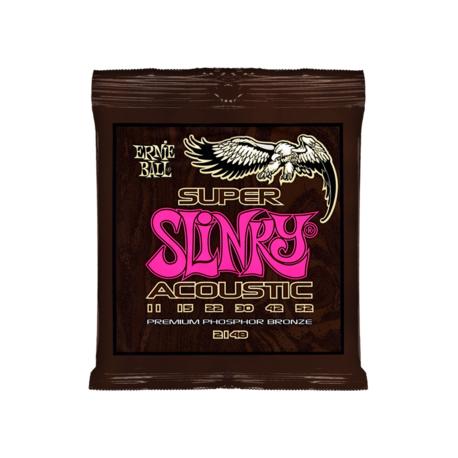 P02148 Slinky Super Комплект струн для акустической гитары, фосфорная бронза, 11-52, Ernie Ball