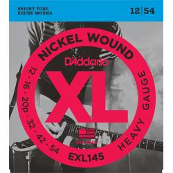 EXL145 XL NICKEL WOUND Струны для электрогитары Heavy 12-54 D`Addario