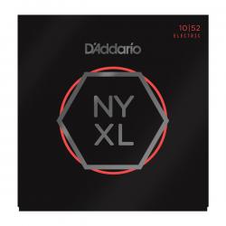 NYXL1052 NYXL Комплект струн для электрогитары, никелирован, L. Top/Heavy Bottom, 10-52, D'Addario