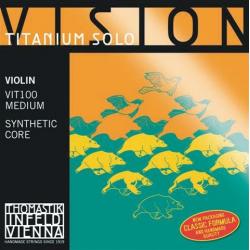 VIT100 Vision Titanium Solo Комплект струн для скрипки размером 4/4, среднее натяжение, Thomastik
