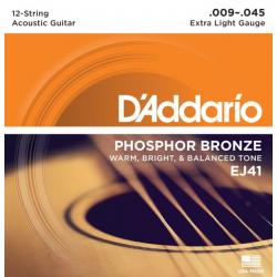 Струны D'ADDARIO EJ41 для 12-ти струнной акустической гитары