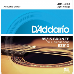 EZ910 AMERICAN BRONZE 85/15 Струны для акустической гитары Light 11-52 D`Addario