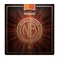 Cтруны для акустической гитары D'ADDARIO NB1047 Nickel Bronze 10-47