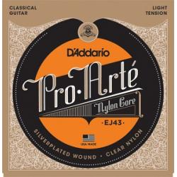 EJ43 Струны для классической гитары нейлоновые Light D`Addario