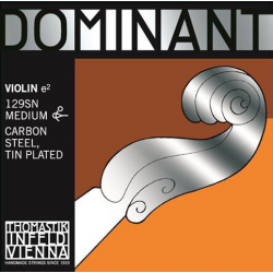 Dominant Отдельная струна Е/Ми для скрипки размером 4/4, сред. натяж, съемный шарик, Thomastik