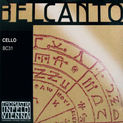 BC31 Belcanto Комплект струн для виолончели размером 4/4, среднее натяжение, Thomastik
