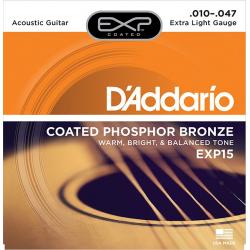 D'Addario EXP15 COATED PHOSPHOR BRONZE Струны для акустической гитары