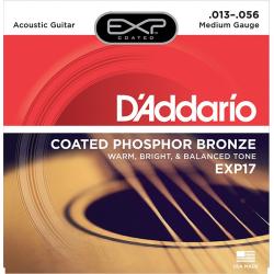 D'Addario EXP17 Coated Phosphor Bronze Струны для акустической гитары