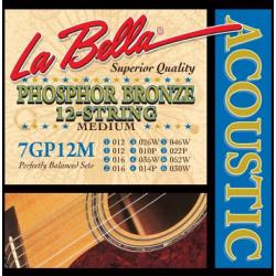 La Bella 7-12M Phosphor Bronze Струны для 12-струнной акуст. гитары