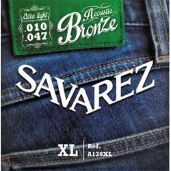 Струны для акустических  гитар SAVAREZ  A130XL