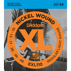 EXL110 XL NICKEL WOUND Струны для электрогитары Regular Light 10-46 D`Addario