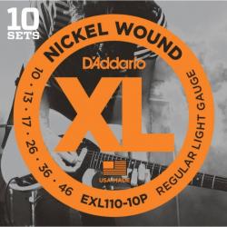 D'ADDARIO EXL110 10P - Струны для электрогитары Даддарио