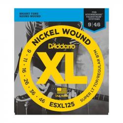 D'ADDARIO ESXL125 - Струны для электрогитары headless Даддарио