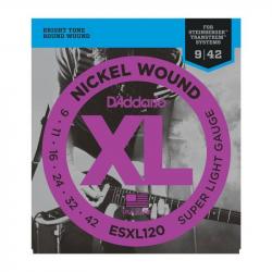 D'ADDARIO ESXL120 - Струны для электрогитары headless Даддарио