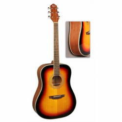 FLIGHT AD-200 3TS - Акустическая гитара Флайт