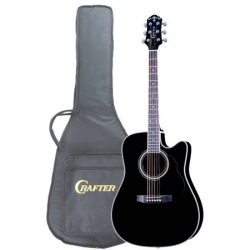 CRAFTER ED-75 CEQ BK+ Чехол - Электроакустическая гитара Крафтер