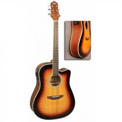 FLIGHT AD-200 CEQ 3TS - Электроакустическая гитара шестиструнная Флайт