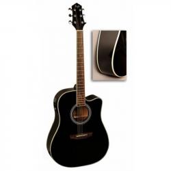 FLIGHT AD-200 CEQ BK - Электроакустическая гитара шестиструнная Флайт