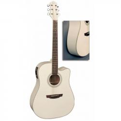FLIGHT AD-200 CEQ WH - Электроакустическая гитара шестиструнная Флайт