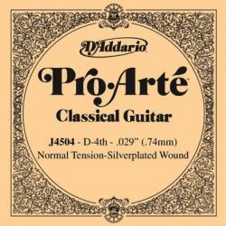 Струна для классической гитары D'Addario J4504 Pro-Arte Nylon 4 D/ре