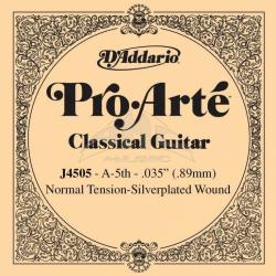 J4505 Pro-Arte Отдельная 5-ая струна для классической гитары D'Addario