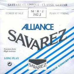 2-я струна для классической гитары SAVAREZ 542J Alliance Bleu