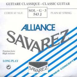 3-я струна для классической гитары SAVAREZ 543J Alliance Bleu