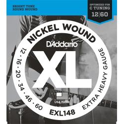 D'ADDARIO EXL148 XL NICKEL WOUND СТРУНЫ ДЛЯ ЭЛЕКТРОГИТАРЫ, 12-60
