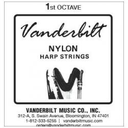 Струна Ре (D) 1-й октавы Vanderbilt, нейлон, для педальной арфы