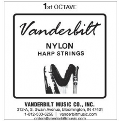 Струна Соль (G) 1-й октавы Vanderbilt, нейлон, для педальной арфы