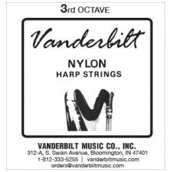 Струна Ми (E) 3-й октавы Vanderbilt, нейлон, для педальной арфы
