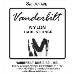 Струна Си (B) 3-й октавы Vanderbilt, нейлон, для педальной арфы
