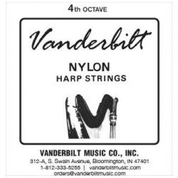 Струна Ре (D) 4-й октавы Vanderbilt, нейлон, для педальной арфы