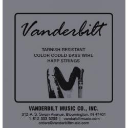 Струна Ми (E) 6-й октавы Vanderbilt, металл, для педальной арфы