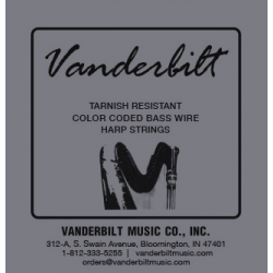 Струна Ми (E) 7-й октавы Vanderbilt, металл, для педальной арфы