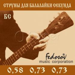 BS-Fedosov Комплект струн для балалайки секунда