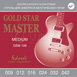 GSM109 Gold Star Master Medium Комплект струн для электрогитары
