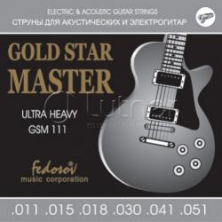 GSM111 Gold Star Master Ultra Heavy Комплект струн для электрогитары