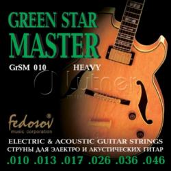 GrSM010 Green Star Master Heavy Комплект струн для электрогитары