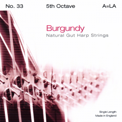 Струна Ми (E) 5-й октавы BURGUNDY, для педальной арфы