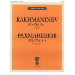 """J0100 Рахманинов С.В. Соната № 1. Соч.28. Для фортепиано, издательство """"П. Юргенсон"""""""