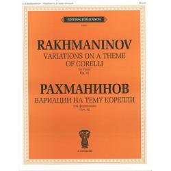 """J0103 Рахманинов С.В. Вариации на тему Корелли. Соч.42. Для фортепиано, издательство """"П. Юргенсон"""""""